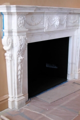 WIP NYC townhouse antique marble mantle