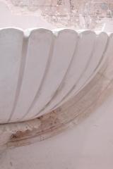 Plaster model for limestone fountain