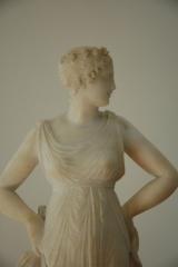 Restored antique alabaster figure (after Canova) detail