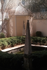 NYC garden pool and limestone ornament restoration