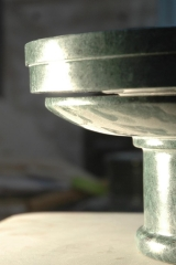 Italian green marble pedestal